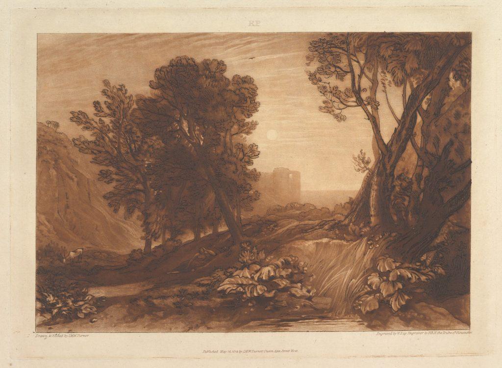 Solitude, or The Reading Magdalen (Liber Studiorum, part XI, plate 53)