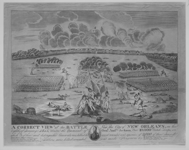 A Correct VIew of the Battle Near the City of New Orleans (January 8, 1815)