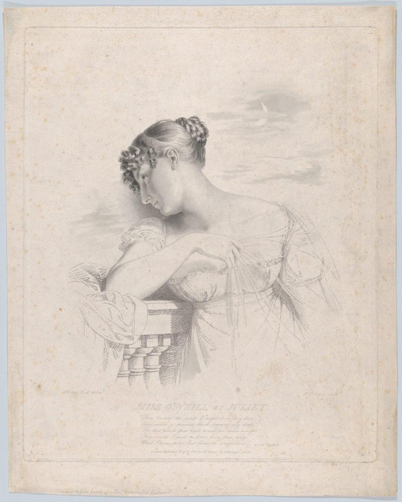Miss O'Neill as Juliet
