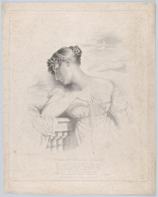 Miss O'Neill as Juliet