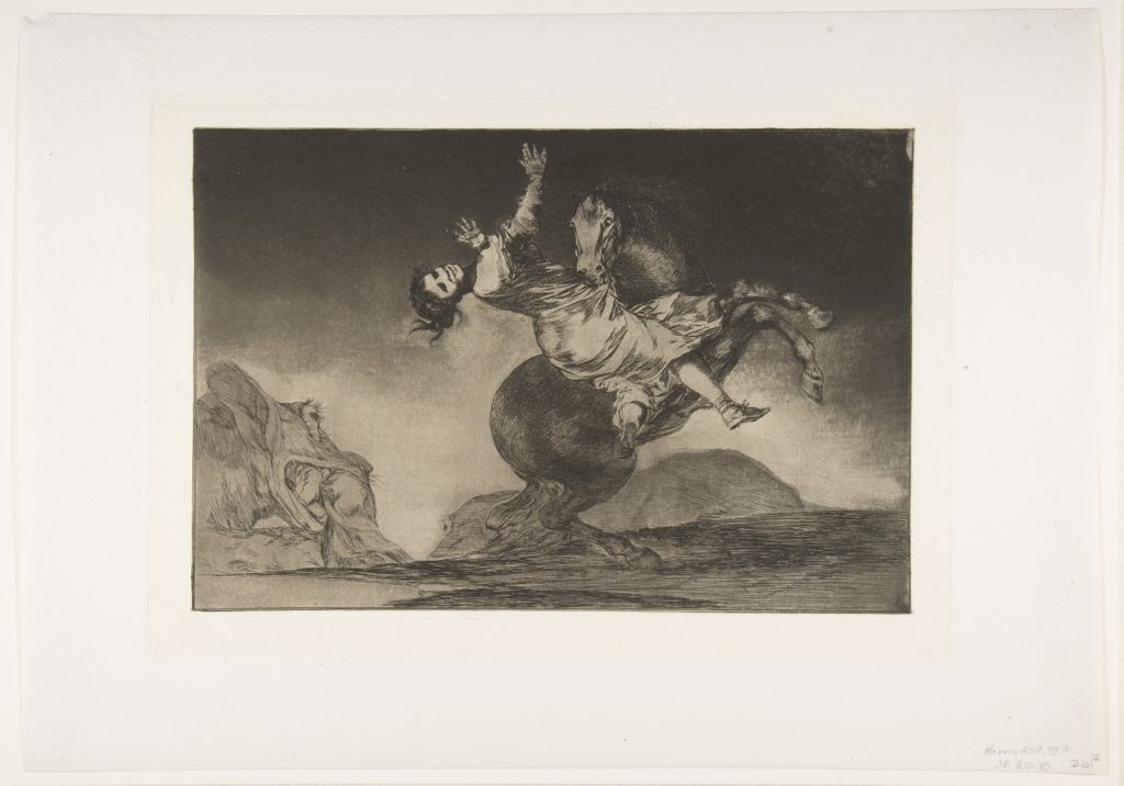 Plate 10 from the 'Disparates': The horse abductor