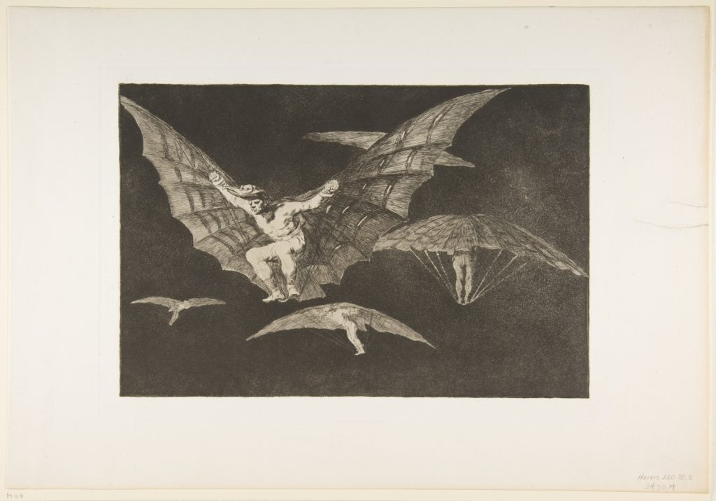Plate 13 from the 'Disparates': A Way of Flying
