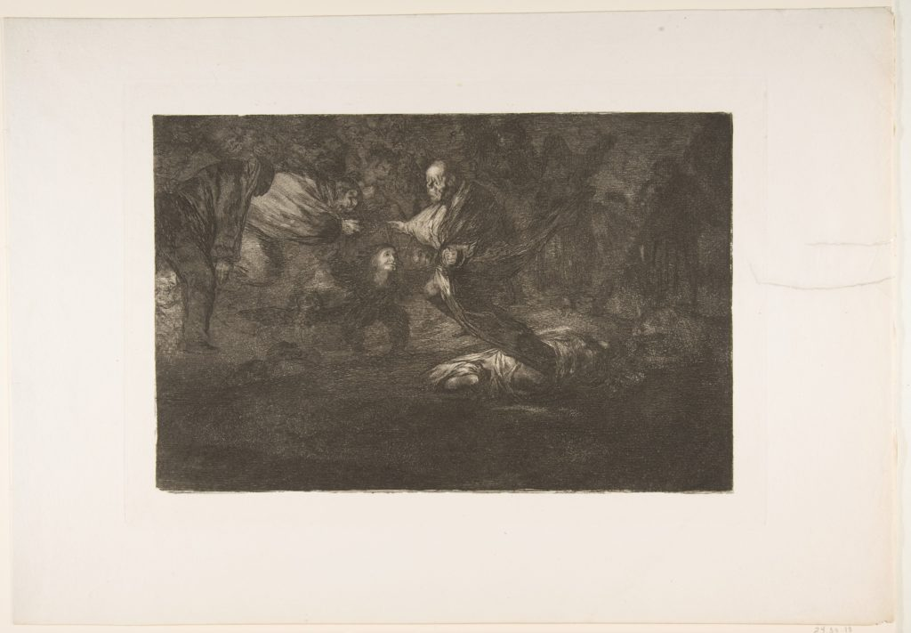 Plate 18 from the 'Disparates':Birds of a feather flock together