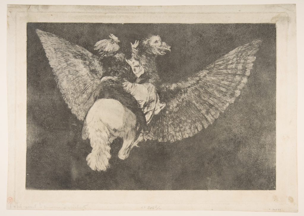 Plate 5  from the 'Disparates': Flying Folly