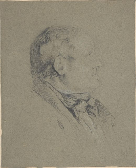 Portrait of Sam Lovill, the Porter at the Royal Academy