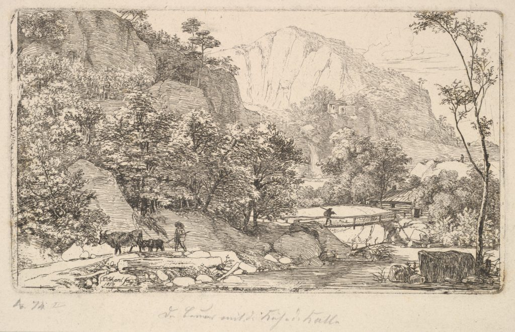 Peasant with Cow and Calf, in the Unterberg near the Berchtesgaden