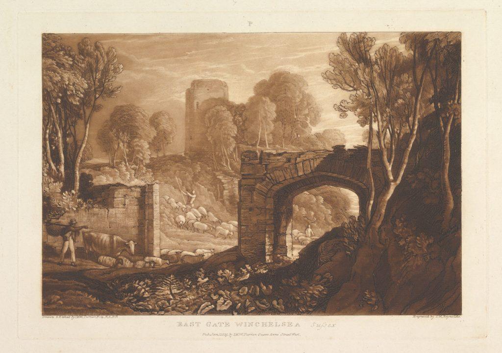 East Gate, Winchelsea, Sussex (Liber Studiorum, part XIV, plate 67)