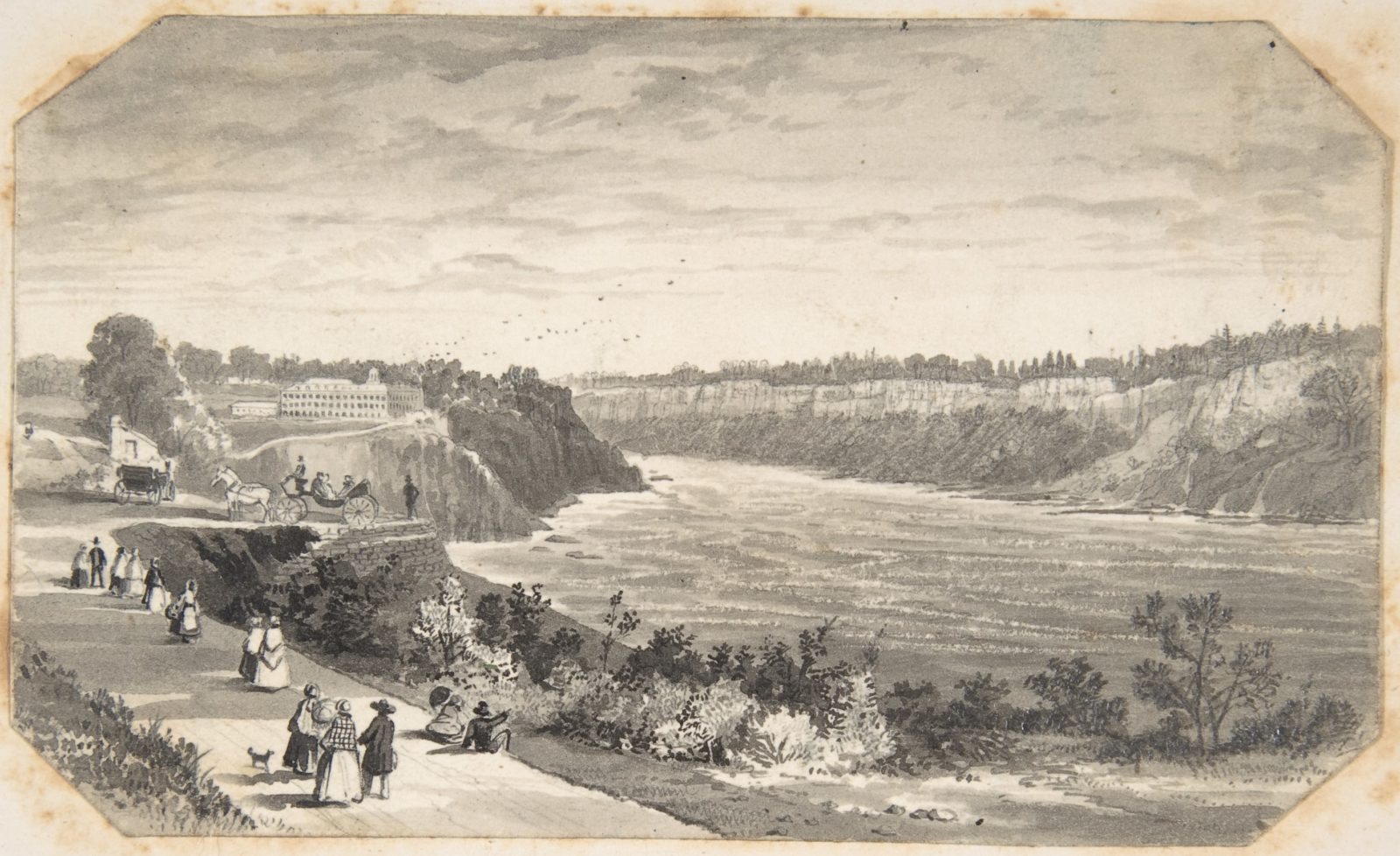View of a river with a promenade