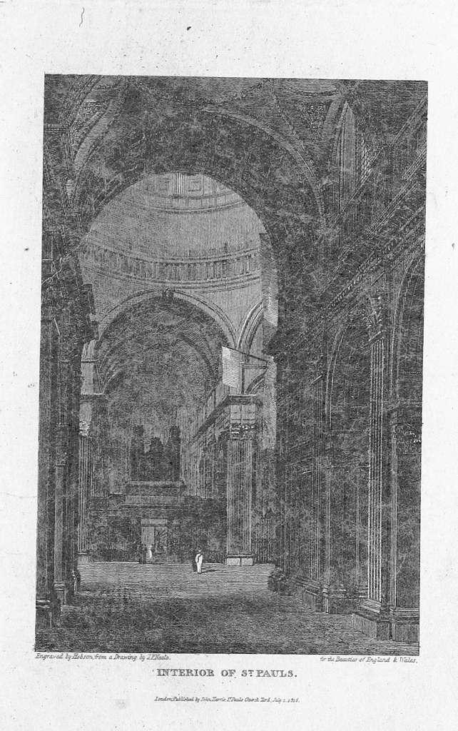 Brayley(1820) p2.015 - Interior of St Paul's