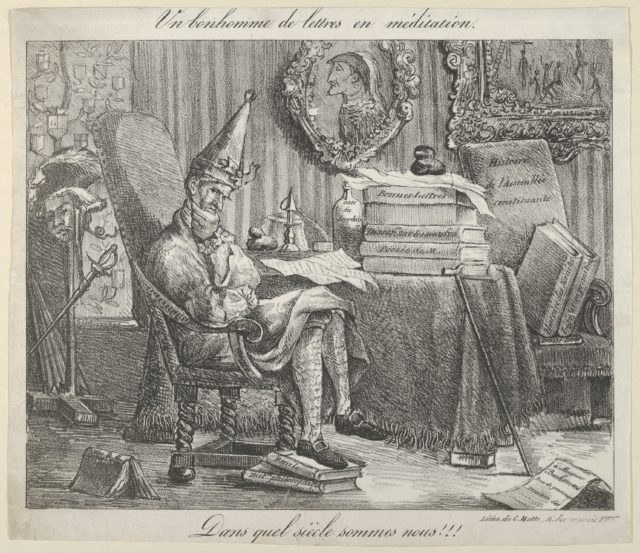 A Literary Fellow Meditating