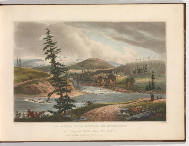 Junction of the Sacandaga and Hudson Rivers (No. 2 of The Hudson River Portfolio)