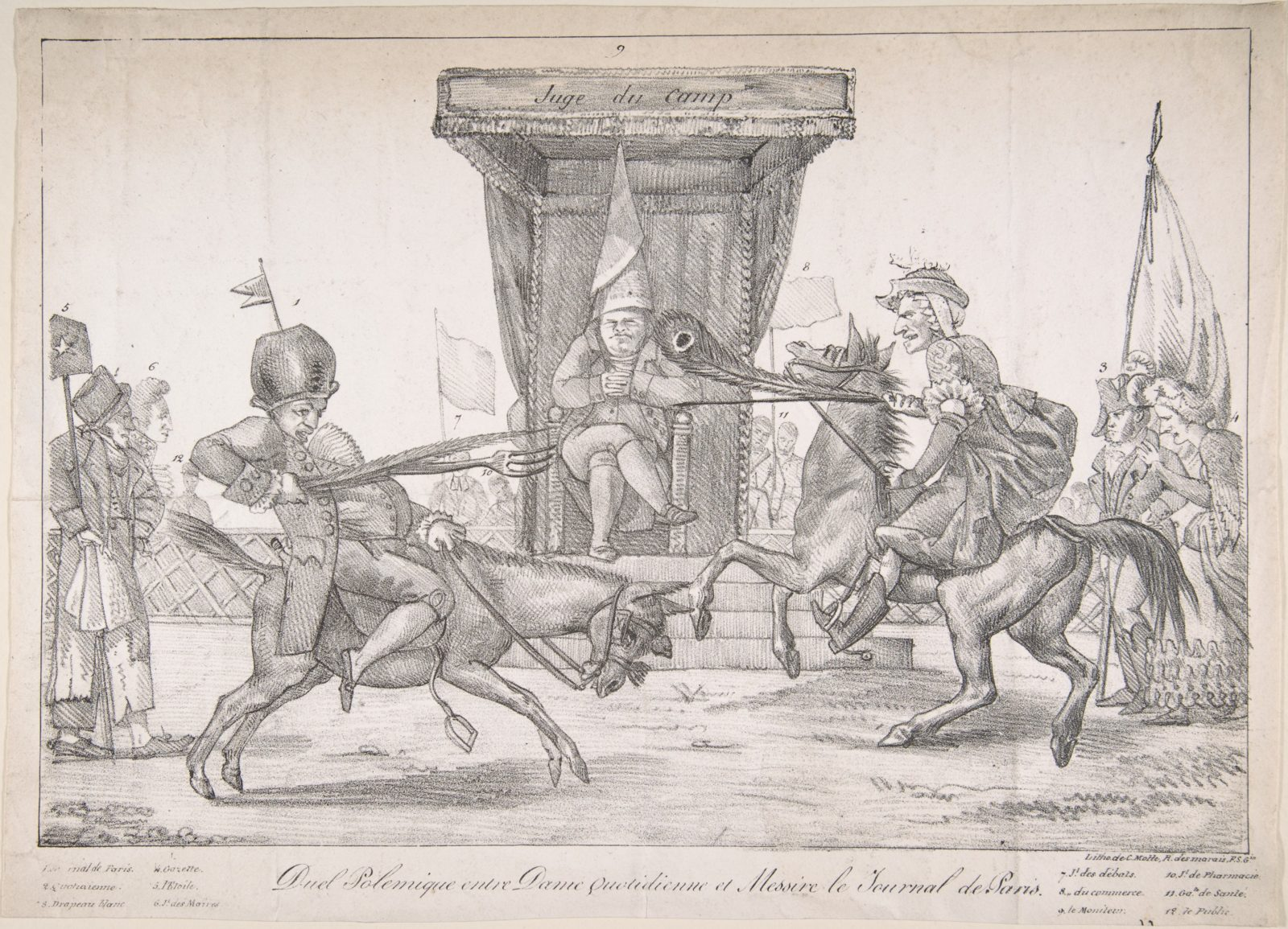Polemical Duel between Lady Quotidienne and Sir Journal de Paris