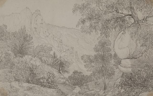 Clay Columns at Stalde in the Visp Thal, Valais, September 4, 1821