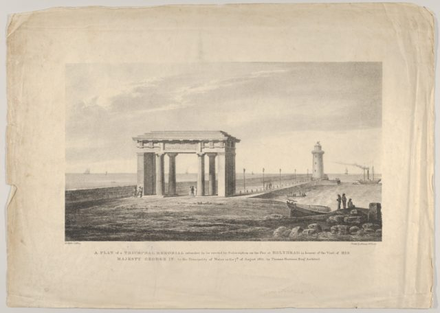A Plan of a Triumphal Memorial....at Holyhead in honour of the visit of His Majesty George IV to the Principality of Wales on the 7th of August, 1821 by Thomas Harrison Esq. Architect