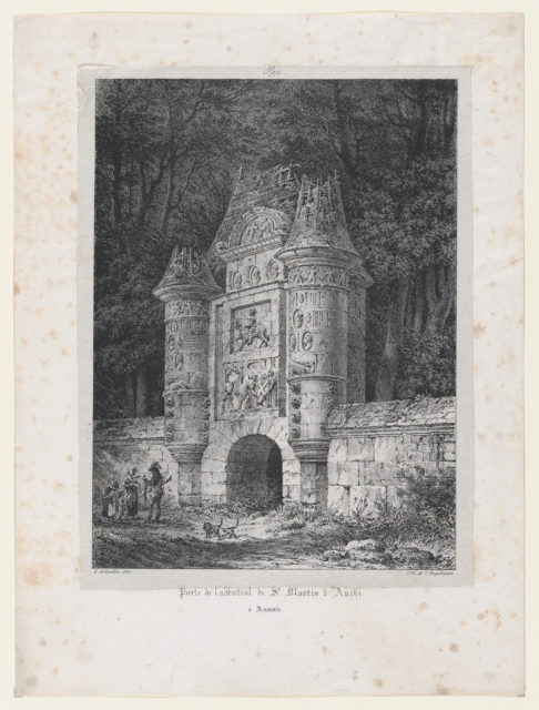 Gateway to the Abbey of St Martin of Auchi in Aumale (France)