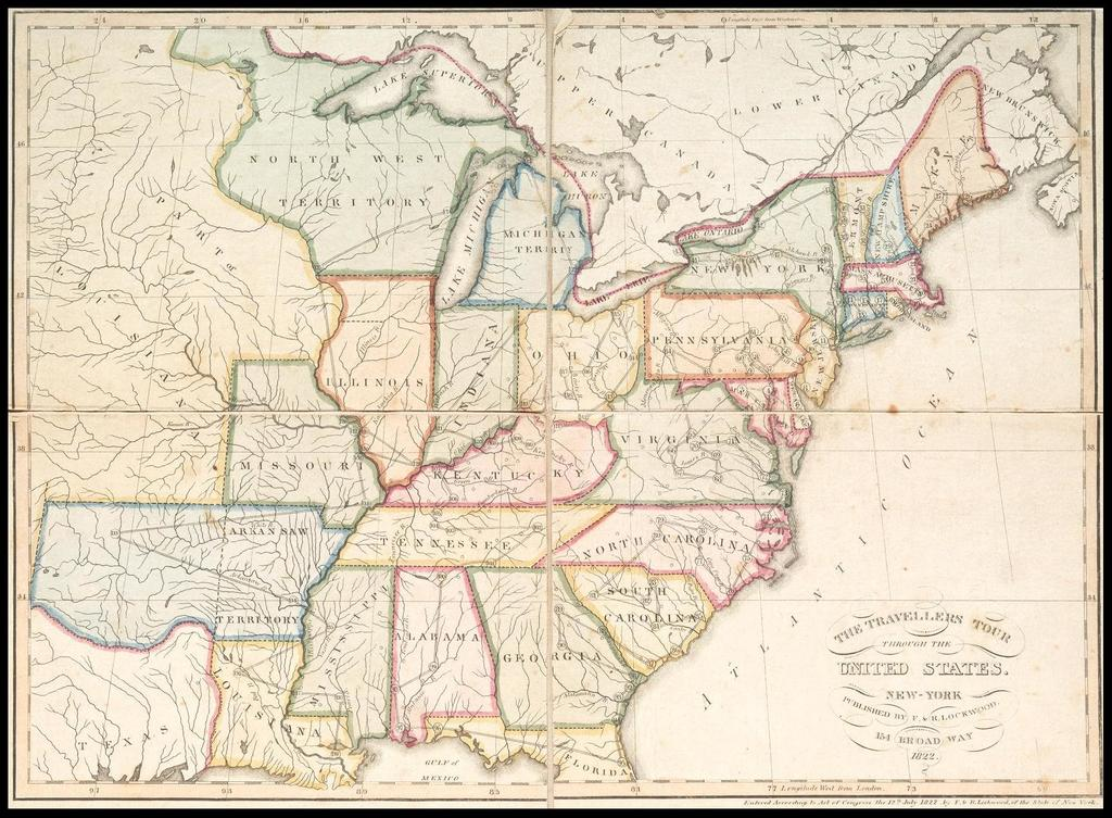The Travellers Tour through the United States 1822