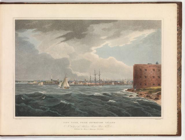 New York from Governor's Island (No. 20 of The Hudson River Portfolio)