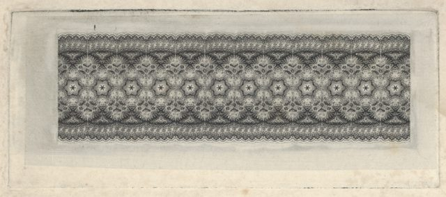 Banknote motif: band of lace-like lathe work ornament