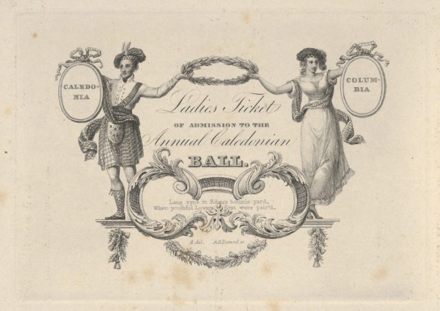Ladies' Ticket of Admission to the Annual Caledonian Ball