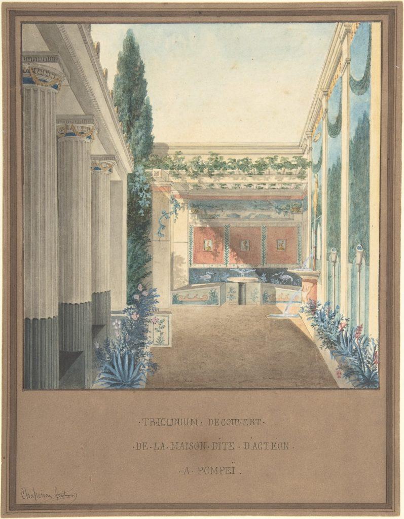 Triclinium, Excavated in the House of Actaeon, Pompeii