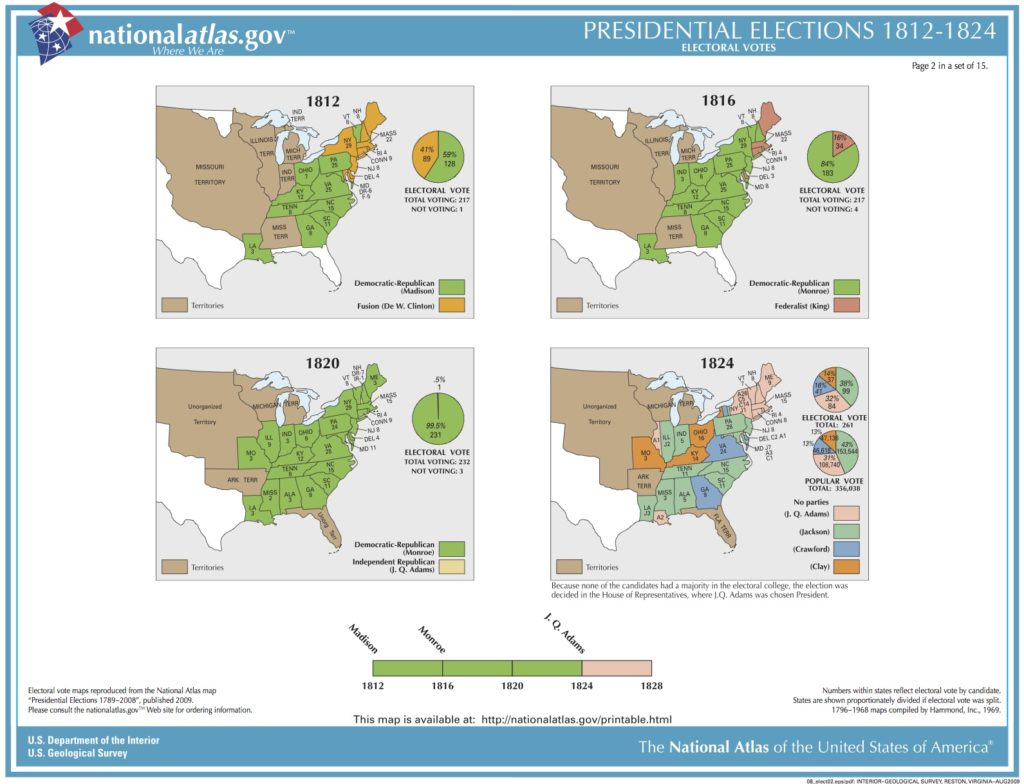 U.S. Presidential Elections. 1812-1824
