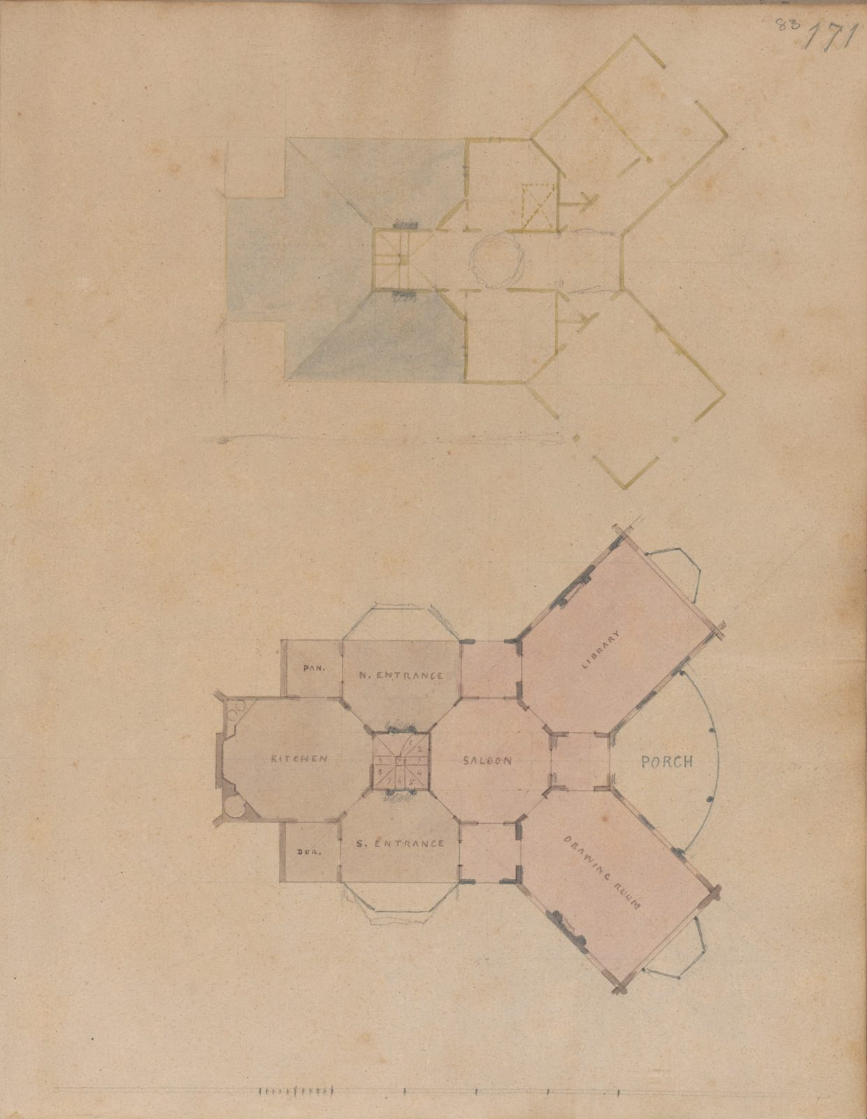 A. J. Davis, Scrapbook III: Hut Cottages, Villas and Dwelling Houses, in Town and Country
