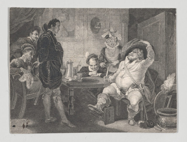 Boar's Head Tavern: Prince Hal, Falstaff and Poins (Shakespeare, First Part of Henry IV, Act 2, Scene 4)