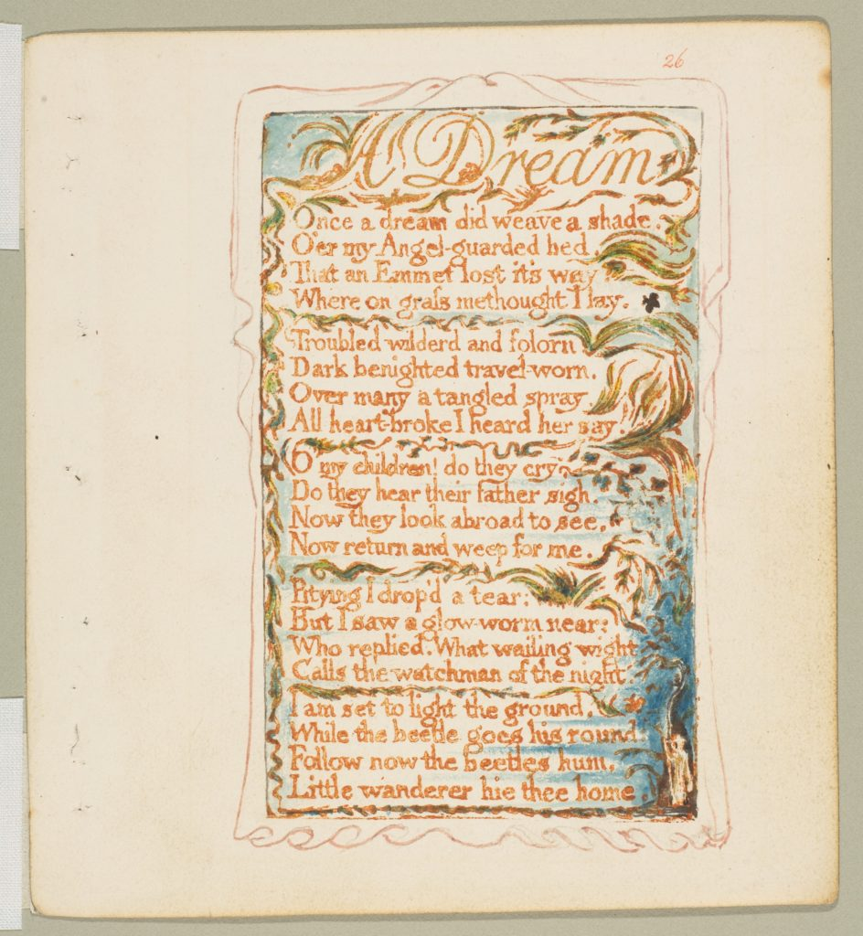 Songs of Innocence and of Experience: A Dream