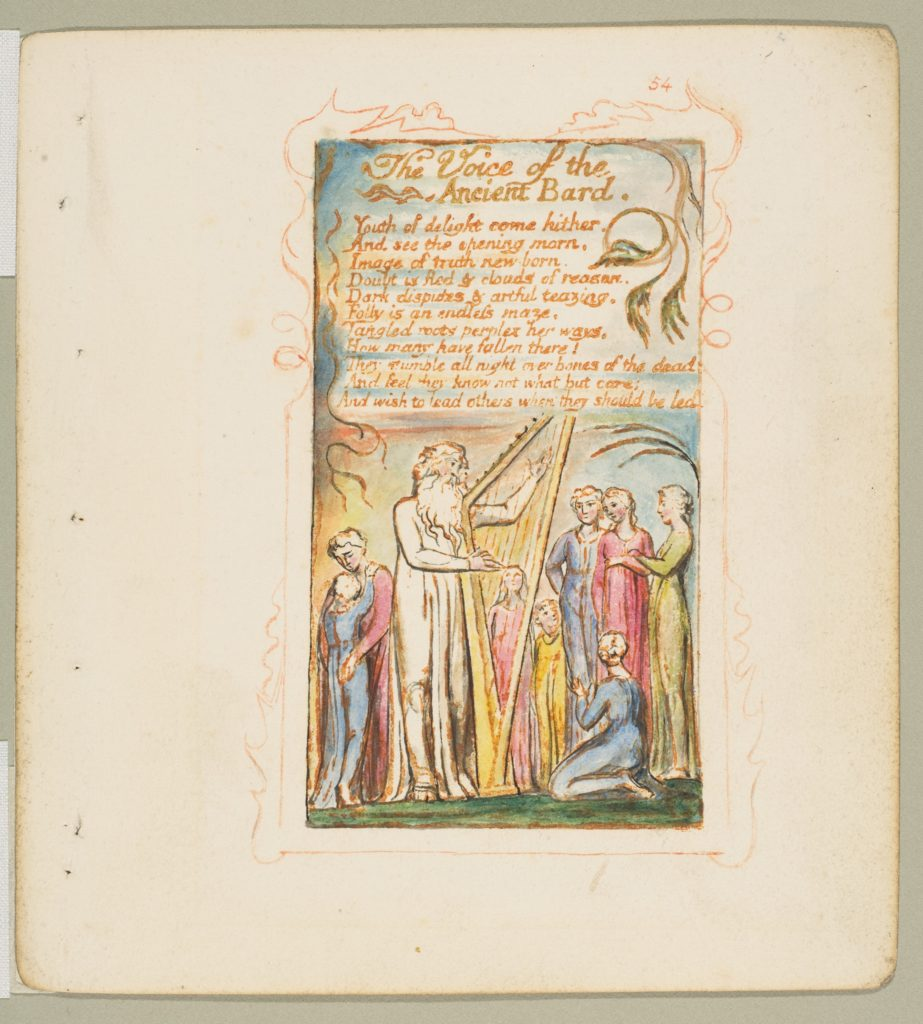 Songs of Innocence and of Experience: Voice of the Ancient Bard
