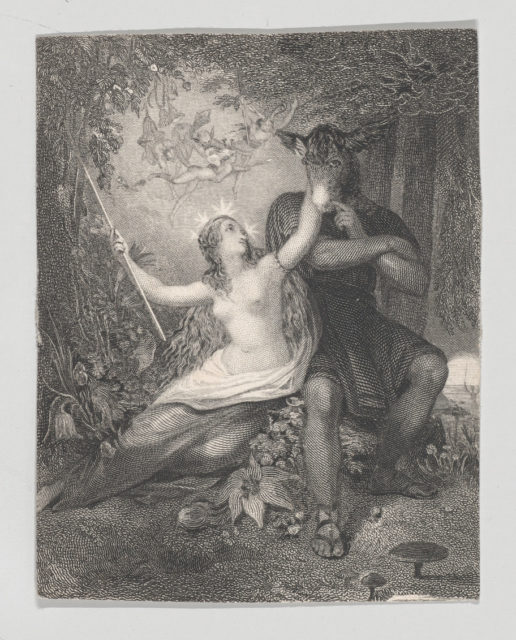 Titania and Bottom (Shakespeare, Midsummer Night's Dream, Act 3, Scene 1)