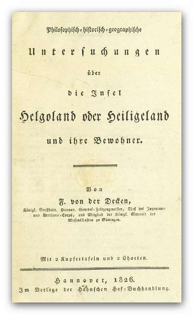 DECKEN(1826) Helgoland