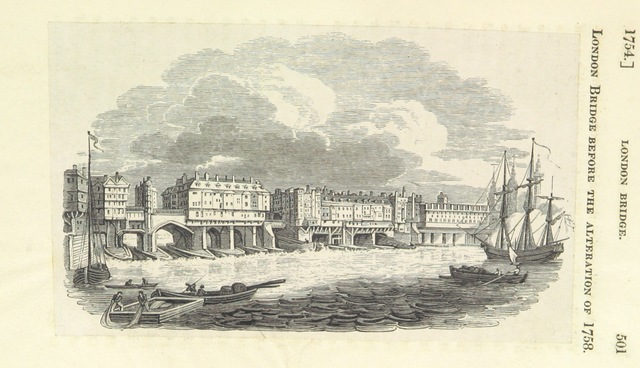 "before 1758 from ""Chronicles of London Bridge: by an Antiquary [i.e. Richard Thomson]. [With illustrations.]"""