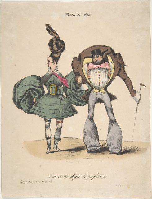 The Fashions of 1830: A Further Degree of Perfection (Encore un dégré de perfection: Modes de 1830)