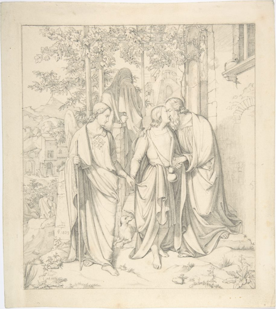Tobias Takes Leave of his Father
