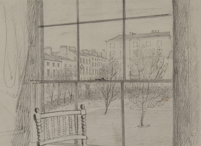 View from the Hotel Window, Leamington, Warwick, March, 1829