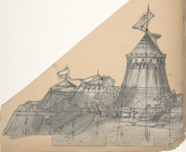 Design for a Stage Set at the Opéra, Paris: A Tent