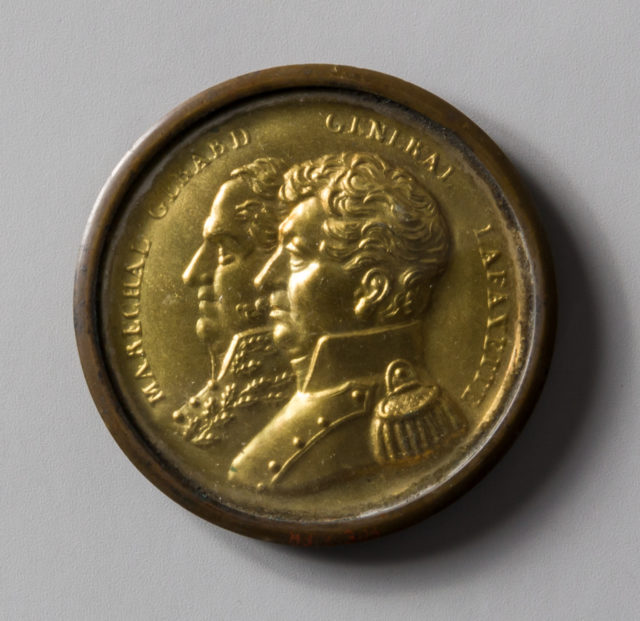Disk of General Lafayette and Marshal Gerard