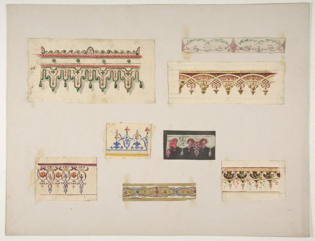 Eight designs for decorative borders