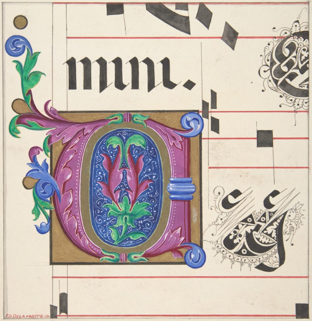 Illuminated Initial from Hymnal