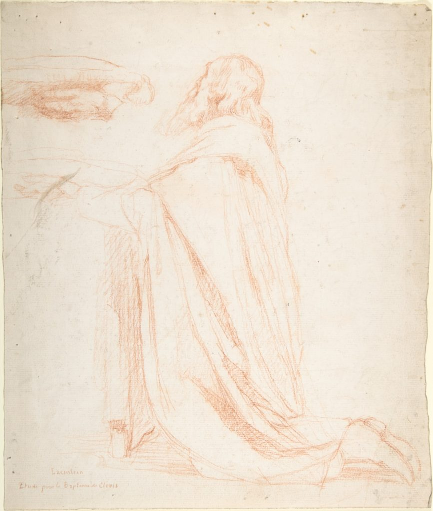 Kneeling Prelate Holding a Cushion