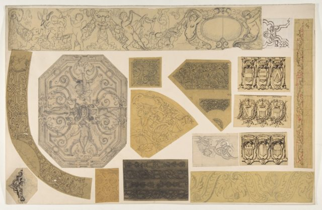 Sixteen designs for the painted decoration of interiors