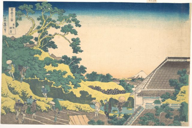 Surugadai in Edo (Tōto Sundai), from the series Thirty-six Views of Mount Fuji (Fugaku sanjūrokkei)