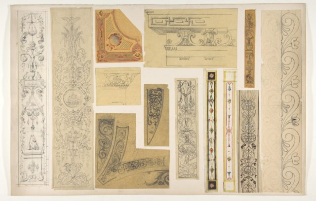Thirteen designs for the painted decoration of interiors