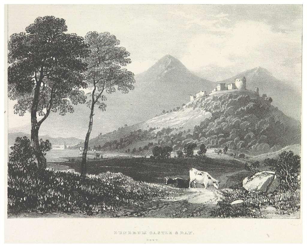 NEWENHAM(1830) p103 DOWN - DUNDRUM CASTLE & BAY