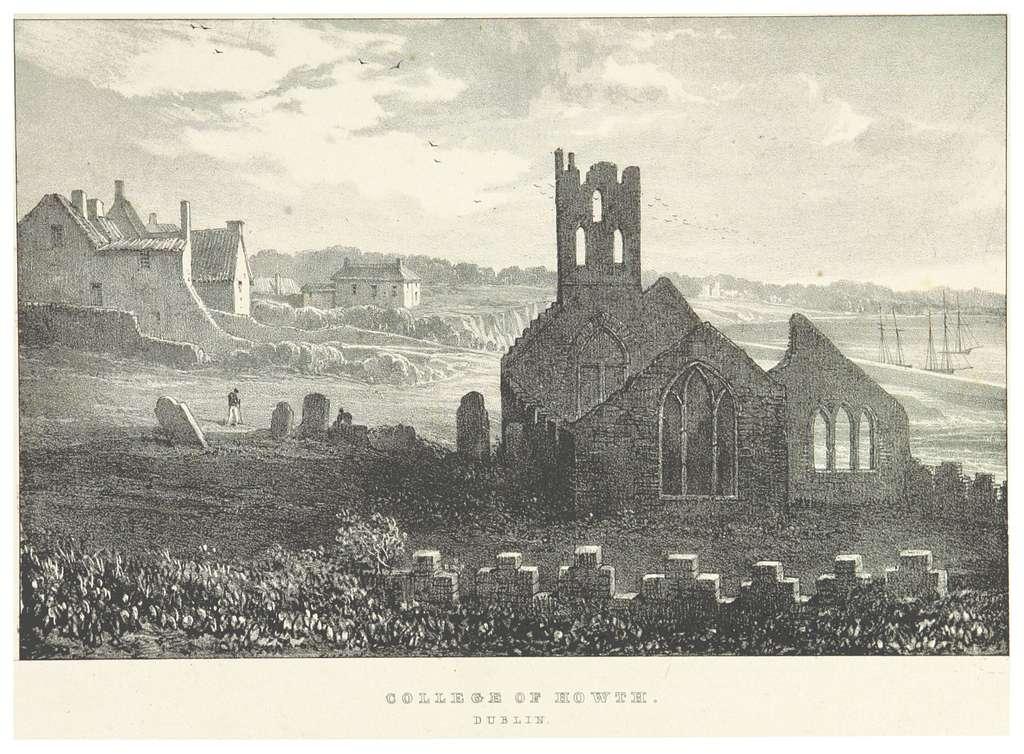NEWENHAM(1830) p123 DUBLIN - COLLEGE OF HOWTH