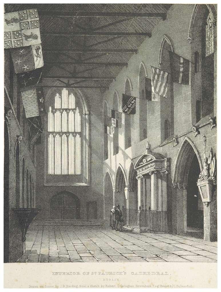 NEWENHAM(1830) p131 DUBLIN - INTERIOR OF ST. PATRICK'S CATHEDRAL