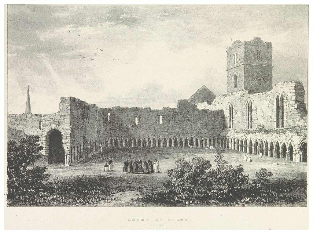 NEWENHAM(1830) p219 SLIGO - ABBEY AT SLIGO