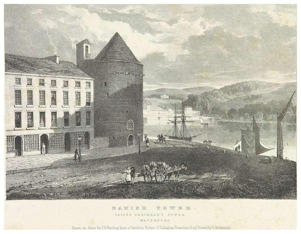 NEWENHAM(1830) p241 WATERFORD - DANISH TOWER