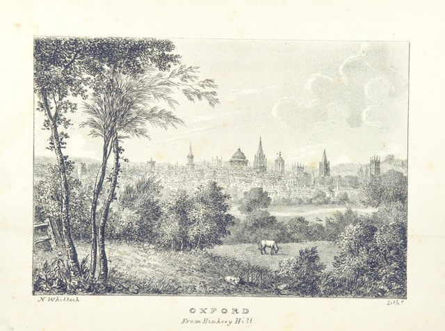 "Oxfordshire from ""The Microcosm of Oxford: containing a series of views of the Churches, Colleges, Halls and other public buildings of the University and City of Oxford ... Accompanied with brief notices of Founders, ... and other subjects explanatory of the several drawings"""