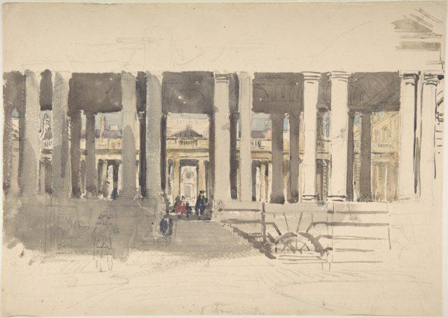 Greenwich Hospital (recto); Study of a Building (verso)
